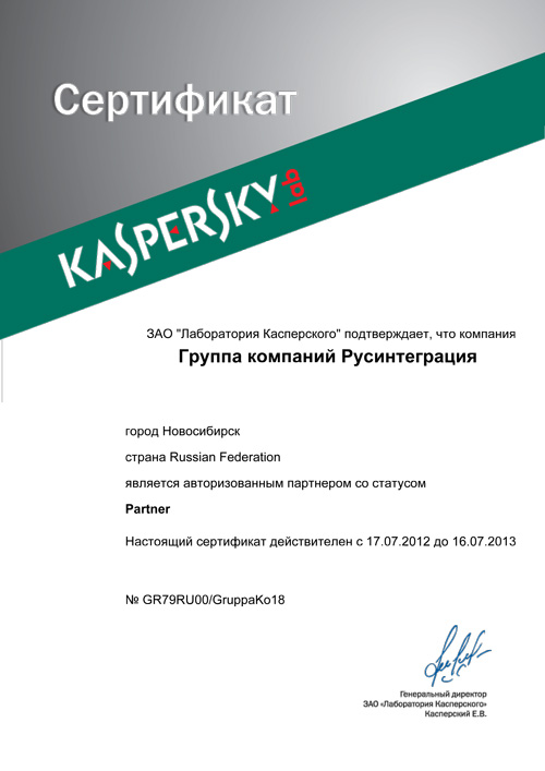 Kaspersky Lab Partner